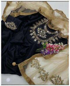 Eid black salwar dress large size