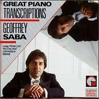 Great piano transcriptions Geoffrey saba waltz from poing the Man In Love NEUF