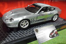 FERRARI 550 MARANELLO Gris finition main 1/18 HOT WHEELS 25740 voiture miniature