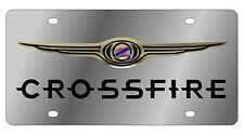 New Chrysler Crossfire Logo Stainless Steel License Plate