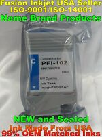 Compatible PFI-102 for Canon ipf 500 600 700 710 710 725 750 cartridge ink cyan