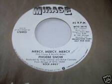 PHOEBE SNOW-MERCY, MERCY, MERCY STEREO/MONO 45