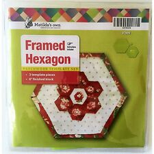 Matilda's Own Framed Hexagons Quilt As You Go Patchwork Template Set