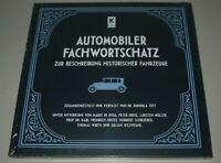Automobiler Fachwortschatz - zur Beschreibung historischer Fahrzeuge Buch Neu!