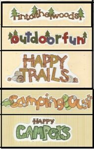 MY MIND'S EYE FRAME UPS DIE CUT TITLES  GONE GREAT OUTDOORS  CAMPING YOU CHOOSE