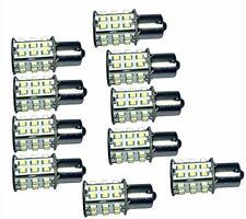 Ten BA15s White 30 SMD LED Bulb Replacement for 1141 Casita RV Interior Light