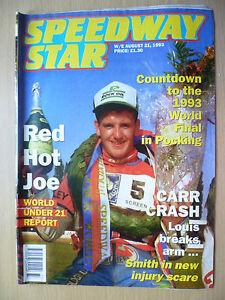SPEEDWAY STAR 21 August 1993- Red Hot Joe,Countdown 1993 World Final in Pocking