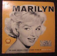 1962 Marilyn Monroe – Marilyn LP 1st VG+/GD 20th Fox FXG 5000 w/ 8x10 Photo