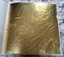 PURE 24K GOLD LEAF SHEET- EDIBLE, FACIAL TREATMENT, CRAFT, DECORATING 8x8 CM