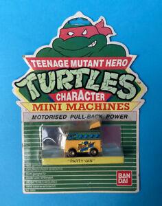 VINTAGE TMNT TEENAGE MUTANT NINJA TURTLES MINI MACHINES PARTY VAN IN BOX BANDAI