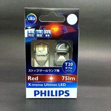 PHILIPS X-treme LED T20 W21/5 RED Stop Tail Light Bulb 12768X2 2Pcs #gtz