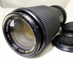 Albinar 80-205mm f4.5 manual focus Zoom Lens for MD constant aperture