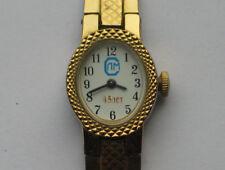 Modern russian CHAIKA ladies watch 15 Jewels, gilt Case W/ Bracelet VGC+