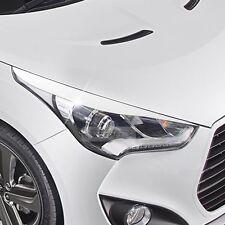 Head Light Eye Line Molding Cover 2Pcs White Painted for HYUNDAI 11-17 Veloster