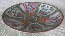 "19th Century Rose Medallion 13"" Low Centerpiece Bowl Fruit Bowl"
