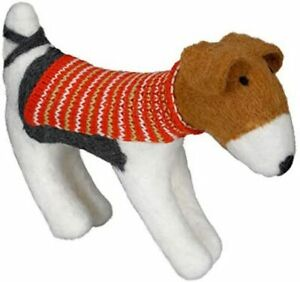 Ashland Jack Russell Dog with Holiday Sweater Table Top Mantel Decor Pet Model