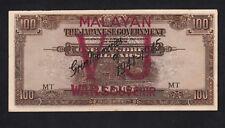 "Malaya Japanese Occupation 100 Dollars ""Forgery Overprint Stamps ""VJ"" Propaganda"