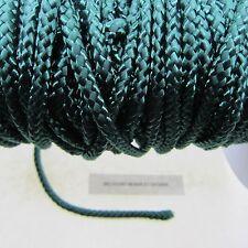 12 Meters - 40 Feet Green Nylon Braided Cord 1/8 Inch  - Unbreakable Heavy Cord