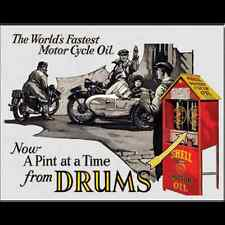 Metal Sign Shell Motor Cycle Oil (40 x 30 cm)