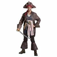 Captain Jack Sparrow Costume Mens Deluxe Pirates Of The Caribbean