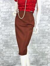 Prada New w Tags Runway Auth Rust Brown Silk Dress Pencil Skirt 2 US 38 IT XS
