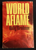 World Aflame by Billy Graham (1965) Hardcover with Red Dust Jacket