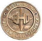 *RARE* EASTWARD HO Portsmouth Yacht Co. Bronze? Brass? Plaque *RARE*