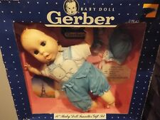 "Nib Vintage 1991 Gerber Baby Doll 14"" Traveler Gift Set"