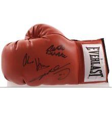 Sugar Ray Leonard Roberto Duran Hearns Autographed Boxing Glove Beckett BAS