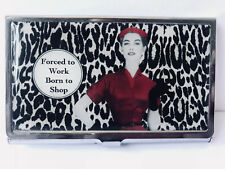 Business Card Holder with Red Woman Design and Gift Box