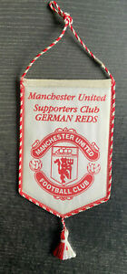 Alter Wimpel / Banner Manchester United - Supporters Club German Reds