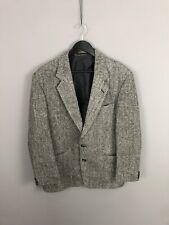HARRIS TWEED Jacket/Blazer - 52R - Grey - Wool - Great Condition - Men's