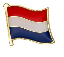 Netherlands Flag Pin Lapel Badge Holland / Dutch High Quality Gloss Enamel