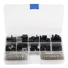 610pcs 2.54mm For Dupont Housing Connector Header Male & Female Crimp Pins Kit