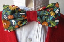 Cotton Print Bow Tie Unisex Colorful Hand Made Adjustable One Size
