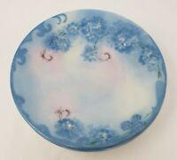 "Vintage J.P.L. France Bread & Butter Plates ""Irma"" Blue Pink Floral Lot of 5"