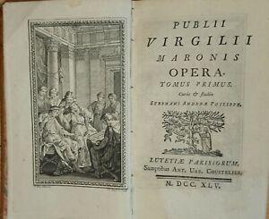 Rar Publii Virgilii Maronis Opera EA 1745 Tome1-3 Vergil Virgil 19 Kupfer Duflos