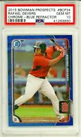 RAFAEL DEVERS 2015 Bowman Chrome BLUE Refractor Rookie Card RC /150 PSA 10 Gem