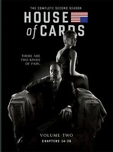 NEW = House of Cards: Complete Second Season 2(DVD, 2014, 4-Disc Set) Free Ship