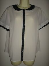 ATMOSPHERE IVORY & BLACK SPOTTED BLOUSE SIZE 14