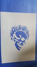 Schablonen 321 Skelett Kopf Mylar Shabby Möbel Wandtattoos Wandbilder Airbrush
