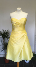 Kelsey Rose Bandeau Strapless Wrap Front Yellow Bridesmaid Prom Dress Size 10
