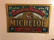 Vintage Michelob Anheuser Busch Inc. Draught- Plastic- Golden Bright Sign-Eagle
