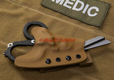 Custom Kydex Coyote Holster for Leatherman Raptor Trauma Shears IFAK Medic TCCC