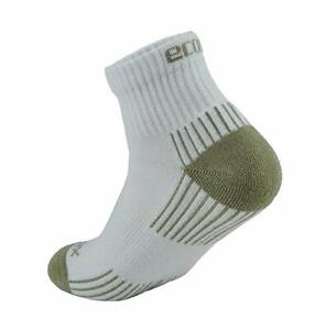 3 pair EcoSox Bamboo Quarter Socks White/Tan  Size Medium 9-11  1005-5