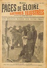 """MILITARIA GUERRE 14/18 REVUE """"PAGES DE GLOIRE"""" KOWEL RUSSIAN ARMY AFRIKA 1917"""