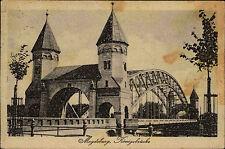 Magdeburg Sachsen-Anhalt 1921 Königsbrücke Brücke Bauwerk gelaufen nach Wurzen