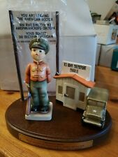 New ListingGoebel Hummel #332 U S Army Checkpoint Charlie 3 Pieces Limited 10799 Of 20,000