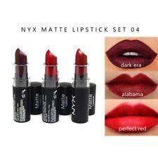NYX 3 Pieza Conjunto de Lápiz Labial Mate 04-en Caja-era oscuro, rojo Perfecto, Alabama