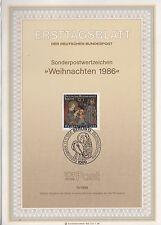 TIMBRE FDC ALLEMAGNE BERLIN OBL ERSTTAGSBLATT NOEL ADORATION DES ROIS  1986